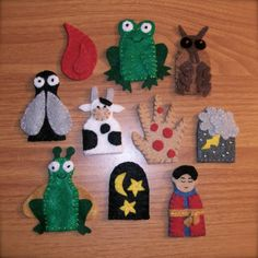 10 Plagues Finger Puppets for Passover Felt by ThePaintedTrunk