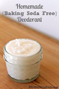 DIY Homemade Deodorant {Baking Soda Free} Recipe