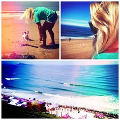 Chilling in Biarritz at the Roxy Pro 2012. Amazing week, take me back!