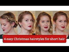 4 Easy Christmas Hairstyles for Short Hair