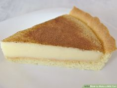 This delicious South African milk tart recipe is delicious as a morning or afternoon addition to a great coffee or pot of tea. Or enjoy a delicious dessert by adding ice-cream and a gooseberry coulis. Custard Recipes, Tart Recipes, Baking Recipes, Dessert Recipes, Curry Recipes, Dessert Tarts, Oven Recipes, Milk Recipes, Pudding Recipes
