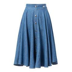 Barato Xd58 moda 2015 mulheres cintura jeans plissada Midi saias azul Retro saia de cintura alta feminino, Compro Qualidade Saias diretamente de fornecedores da China:                                                                       Lamber  aqui para mais novos itens