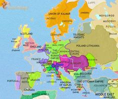history map of Europe 1453AD