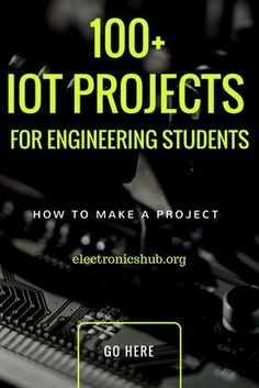 Ulitimate List of IOT Projects For Engineering Students – electronica – – technology Robotics Projects, Software Projects, Engineering Projects, Engineering Technology, Technology World, Electronic Engineering, Esp8266 Projects, Electrical Projects, Electronics Projects
