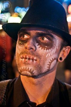 day of the dead makeup for guys i like how its not so thick