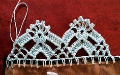 How to Crochet Wave Fan Edging Border Stitch Crochet Edging Patterns, Crochet Lace Edging, Crochet Borders, Crochet Cross, Crochet Patterns Amigurumi, Crochet Doilies, Crochet Flowers, Crochet Stitches, Filet Crochet