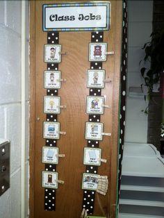 Class jobs..i like the ribbon down the door idea