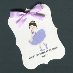Personalized Girls Birthday Party Favor Tags for by susiedees