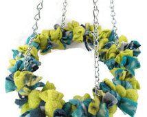 Vogel-Spielzeug-Fleece kuschelig Hoop Swing Ring