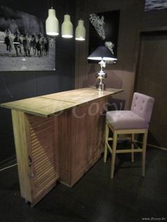 "PR Interiors Washington openklapbare barkast bar in weathered oak-eik en burned oak top<span style=""font-size: 0.01pt;""> PR-Rogiers-Home-Interiors-CHR/205/03 bar-drankkast-armoire-bar-bar-meuble-bar-meubles-bars-landelijke-barkast-b </span>"