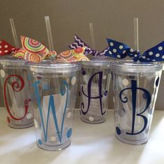 Personalized tumblers by Toddletags on Etsy