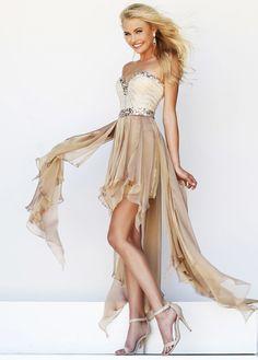 e62fb5b72b peach strapless high low dress
