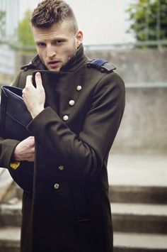 Military coat. #menswear