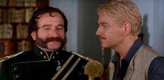 Robin Williams as Osric in Kenneth Branagh's Hamlet. #RIP