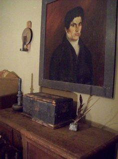 Wonderful early painting and document box.