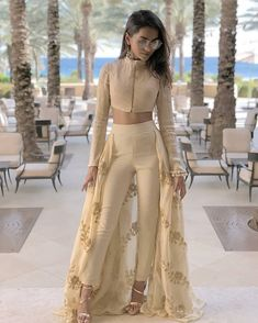 Designer dresses indian - Image may contain 1 person, standing and outdoor Indian Fashion Dresses, Indian Gowns Dresses, Indian Designer Outfits, Designer Dresses, Fashion Outfits, Indian Fashion Trends, Indian Wedding Outfits, Indian Outfits, Indian Attire