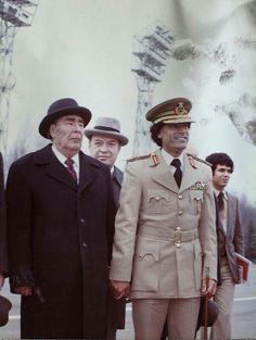 Брежнев и М.Каддафи