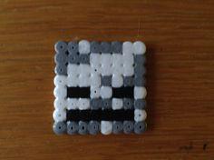 Minecraft Skeleton hoofd leuk en gemakkelijk te maken met strijkkralen