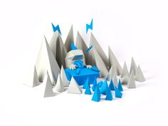 Blue and Grey by Mick Theisen, via Behance