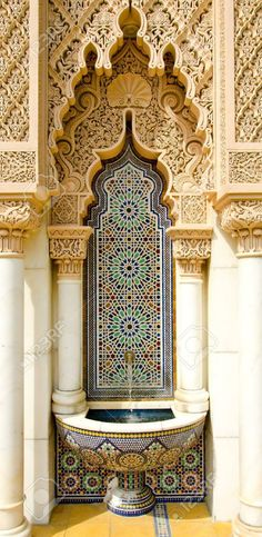 Moroccan architecture design Vinyl Wall Mural – The Middle East Marokkanische Architektur Design Vinyl Fototapete – Der Nahe Osten Cultural Architecture, Architecture Design, Architecture Classique, Islamic Architecture, Futuristic Architecture, Beautiful Architecture, Contemporary Architecture, Pavilion Architecture, Morrocan Architecture