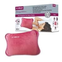Rechargeable electric hot water bottle from Devielle. Heats up in 15 minutes. Available in rose pink or grey.