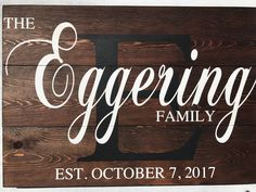 Last Name Wood Sign, Last Name Signs, Family Wood Signs, Family Name Signs, Custom Wood Signs, Wooden Signs, Stain On Pine, Established Family Signs, Making Signs On Wood