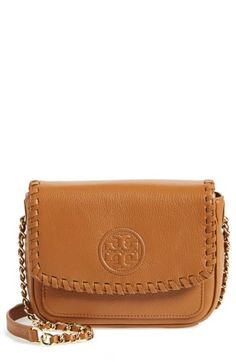 Free shipping and returns on Tory Burch 'Mini Marion' Crossbody Bag at Nordstrom.com. A tonal logo emblem and whipstitched trim add tactile dimension to a sized-down crossbody bag cast in lushly pebbled leather.