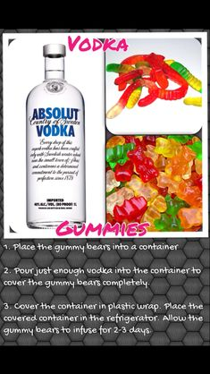 How to make vodka gummy bears/worms