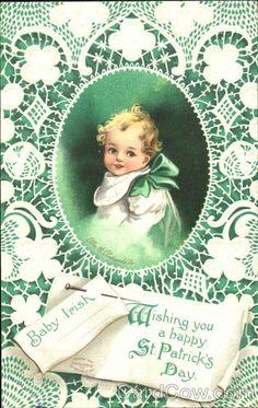 Baby Irish Wishing You A Happy St. Patrick's Day Ellen Clapsaddle