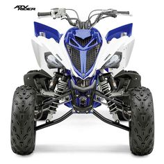 The big power of the 2016 Yamaha Raptor 700R's 686cc, fuel injected mill is matched with a lightweight hybrid steel aluminum frame, Controlled-Fill aluminum sub-frame and cast aluminum swingarm. It rides on a double A-arm front suspension, which uses YZ-style piggyback shocks with high and low-speed compression, rebound and threaded preload adjustments and offers 9.1-inches of wheel travel. Check out the full specs and photos.