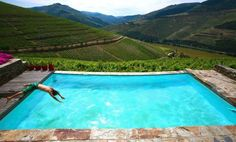 """""""...the pool overlooking the vineyards, is spectacular, and you wonder how anything can live up to that..."""", in the American Airlines magazine"""