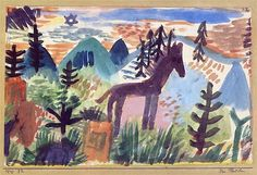 Paul Klee - The Horse, 1918