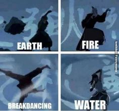 Haha, breakdance bending.