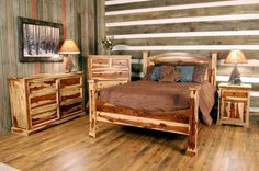 country rustic bedroom | Rustic Bedroom Ideas With Wall Painting
