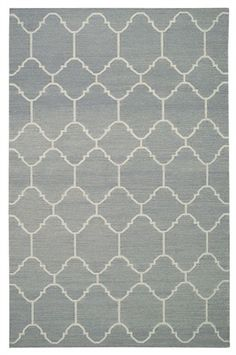 The Serpentine Rug from Capel features a stylish lattice pattern reminiscent of a mosaic trellis.   This rug will look wonderful in your child's room or teen's room!
