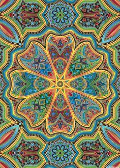 Lumina 2 - Palace Kaleidoscope - Quilt Fabrics from www.eQuilter.com