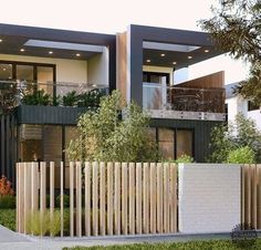 backyard designs – Gardening Ideas, Tips & Techniques Front Yard Fence, Fenced In Yard, Front Yard Landscaping, Compound Wall Design, Outdoor Walls, Outdoor Decor, Modern Fence, House Entrance, Fence Design