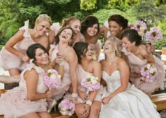 Bridesmaid picture #blush #laughing #candid