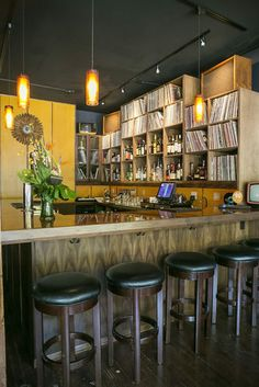 Revolver is a Vinyl-Centric Bar on Olive Way in Seattle where patrons choose the soundtrack from the 2,500 LP collection.