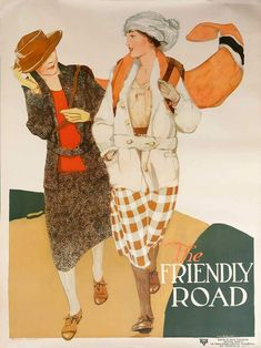 Global Gallery 'YWCA / The Friendly Road' by Anita Parkhurst Framed Vintage Advertisement Size: H x W x D Sale Poster, Advertising Poster, Nature Scenes, Hand Painting Art, American Artists, Custom Framing, Vintage Posters, 5 D, Hand Painted