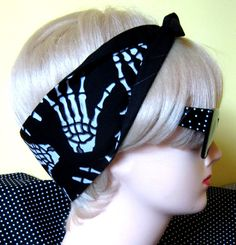 Skelehand Hair Tie Psychobilly Monster gore bones by DollyCool, $9.50