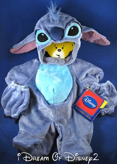 NEW DISNEY STITCH COSTUME & HEAD COVER BUILD-A-BEAR PLUSH TEDDY CLOTHES OUTFIT