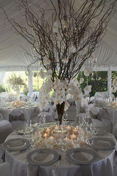 Wedding Design Studio. | cool branches as center piece!