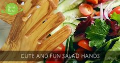 Salad hands are cute little salad tools, that will definitely make people smile when they see you serve salad with these tiny, entertaining helping hands. Dinner Table, Celery, Hands, Salad, Entertaining, Fresh, Tools, Vegetables, How To Make
