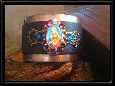 Virgin Mary cuff bracelet by Treatsmadewithlove on Etsy, $40.00