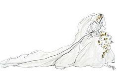Princess Diana's wedding dress, 1981.