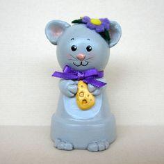 Ornamento de campana de maceta de ratón