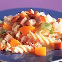 Recept - Zomerse pastasalade met gerookte kipfilet - Allerhande