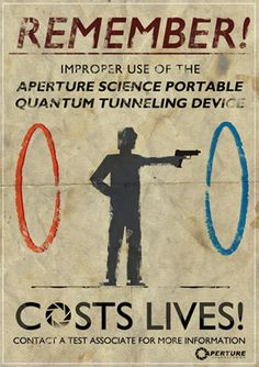 Portal poster by Tom Wilding