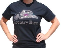 Super Cute Country Diva Rhinestone T-shirt